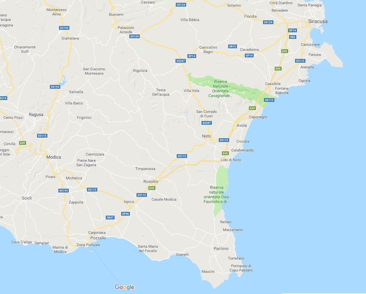Cartina Geografica Sicilia Sud Orientale.Cartina Sicilia Sud Orientale In Viaggio Con Ricky