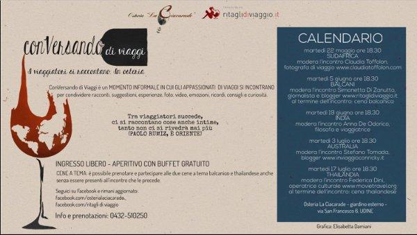 Conversando di Viaggi Osteria La Ciacarade Udine