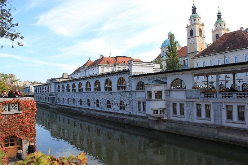 Tržnice il mercato al coperto di Lubiana in Slovenia