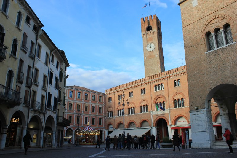 La piazza dei Signori a Treviso