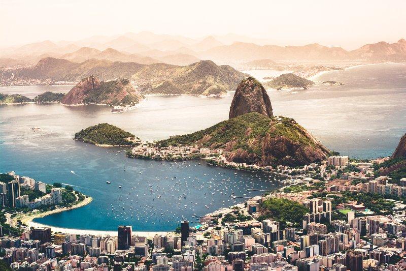Panorama sulla baia di Rio de Janeiro