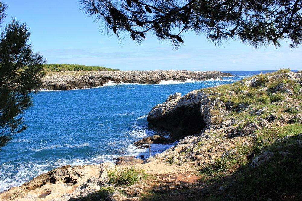 La spiaggia di Porto Badisco nel Salento