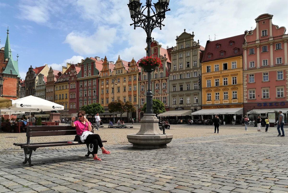 La piazza del mercato di Breslavia